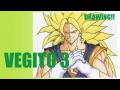 【Dragon Ball VEGITO3 DRAWING】絵本作家がベジット3を描いてみた!